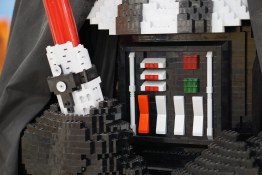Darth Vader's chest piece in LEGO statue at Myer