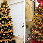 Sunflower Christmas Trees Are The Cheeriest Decor