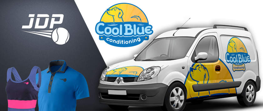 Advertisement for Cool Blue Conditioning by SB Marketing.