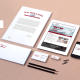 A branding package for HW Bryk plumbing, with stationary, business cards and more.