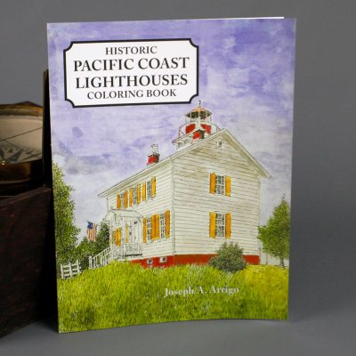 Pacific Coast Lighthouses Coloring Book - Paperback
