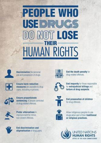 PEOPLE WHO USE DRUGS DO NOT LOSE THEIR HUMAN RIGHTS - UN