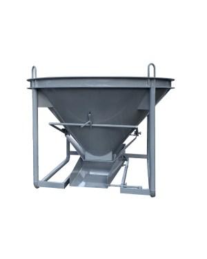 Бункер для бетона / бадья для бетона БН-0,5 (0,5м3, 120кг, лоток)