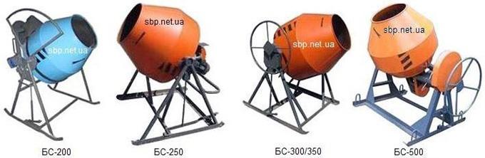 продажа, аренда Бетоносмесители БС-250, БС-300, БС-350, БС-500 (Украина)