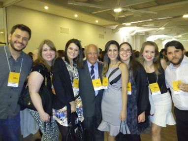 Dr Sebastião Salim (SPMG) e candidatos da SPMG no coquetel de abertura do congresso