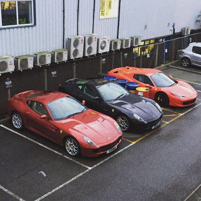 Ferrari's all year round #sbraceengineering #ferrari #599 #458spider #service #specialist