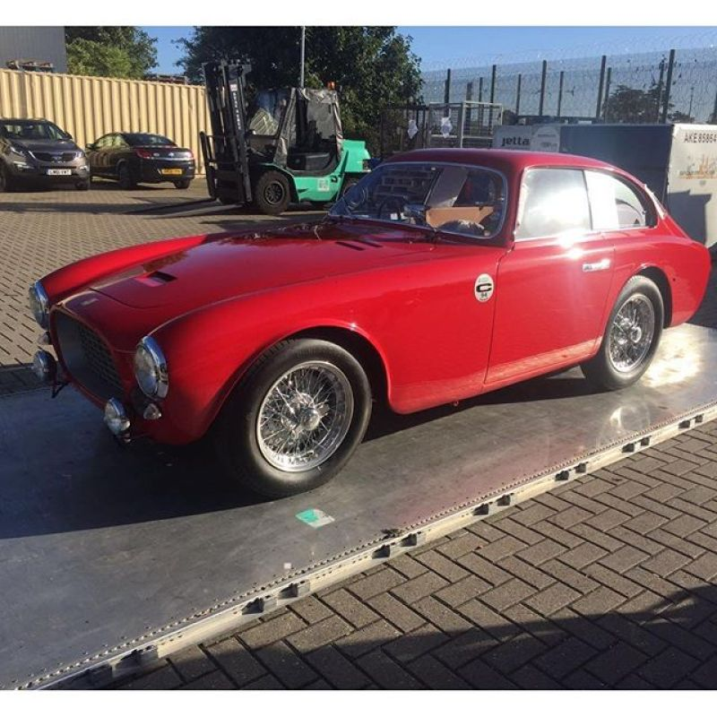 Loaded and going home to the USA....see you next year.  #ferrari #225s #red #classic #sbraceengineering #sbr