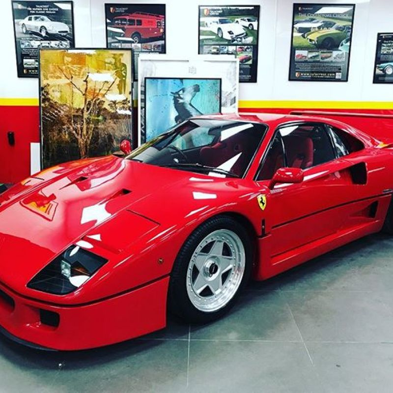 One of a handful of RHD F40's ever made! Stunning condition, currently for sale at @talacrest .. #ferrari #ferrarif40 #righthanddrive #sbraceengineering #f40 #v8 #twinturbo #v8twinturbo #200mphclub