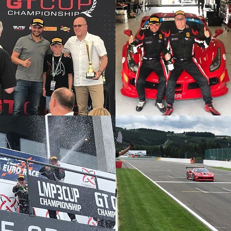 A weekend of ups and downs but and amazing finish! 1st in class and third over all. A great effort by the team to get the car working from problems on Friday and the incidents in the race yesterday! #ferrari #ferrariracing #gtcup #sbraceengineering #hprental #philglew