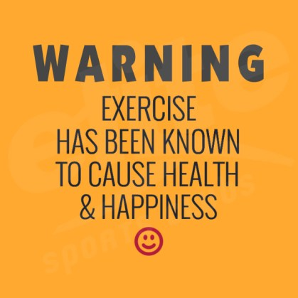 exercise and your health warning