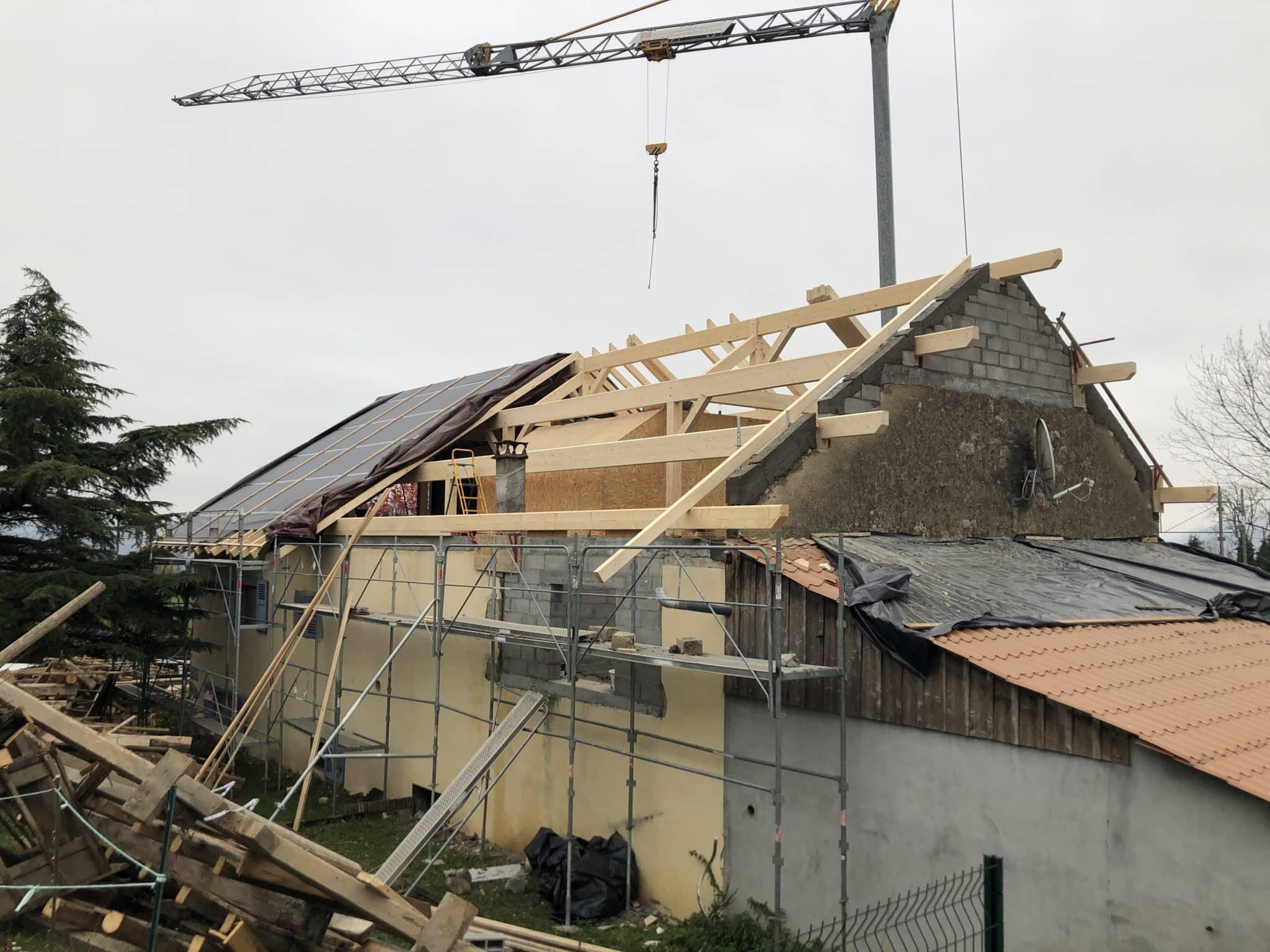 Remplacement de toiture à Eteaux