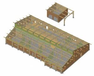 Clinique veterinaire Domancy structure bois sbs