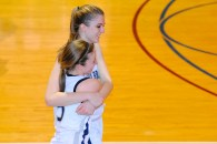 Jess Winston and Natalie Istrati share a moment after the victory