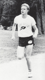 Hoffman during a meet in 1984