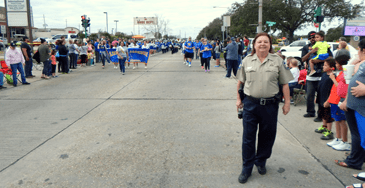 Dep. Sheriff Lisa Thiel on the parade route.