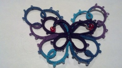 Butterfly tatted by Natalie Rogers.