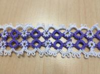Twisted Tatting Bracelet with Jessica Spaulding. She will be demonstrating a two color ring technique.