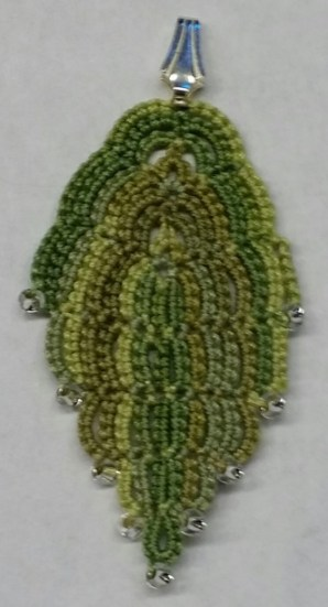 Leaf Pendant with Patty Markley This class is full. Tatters in this class will created a beautiful leaf from a tatted chain.