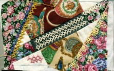 Crazy Quilt Embellishing with Lauren Snyder Embellish a crazy quilt block with tatted lace and beads.