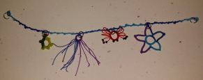 Vapour Stitch with Natalie Rogers Students will use Ninetta's vapour stitch to create a sea themed charm bracelet.