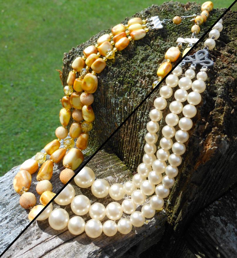Three String Vintage Necklaces
