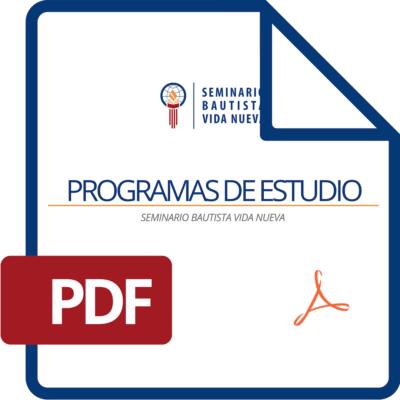 Programas de Estudio SBVN 2019