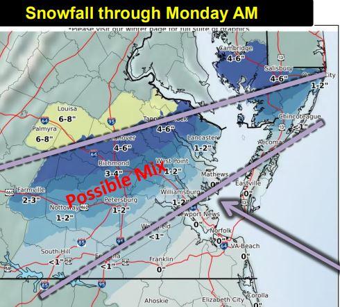 snowfall thru monday