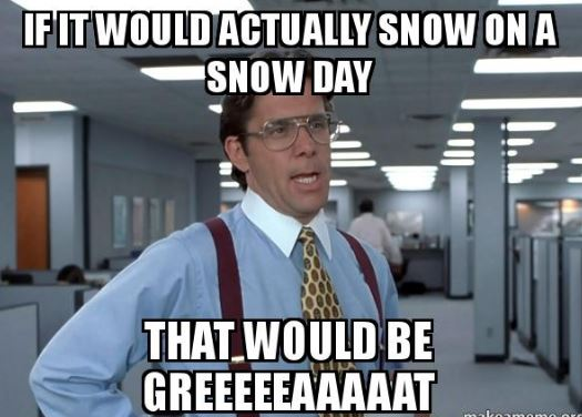 if it would snow