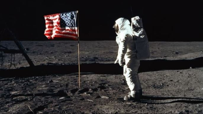 man on moon