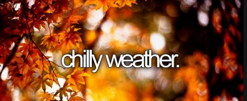 chilly weather