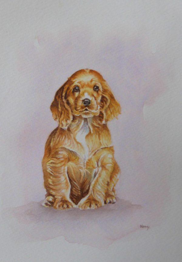 Puppy watercolour