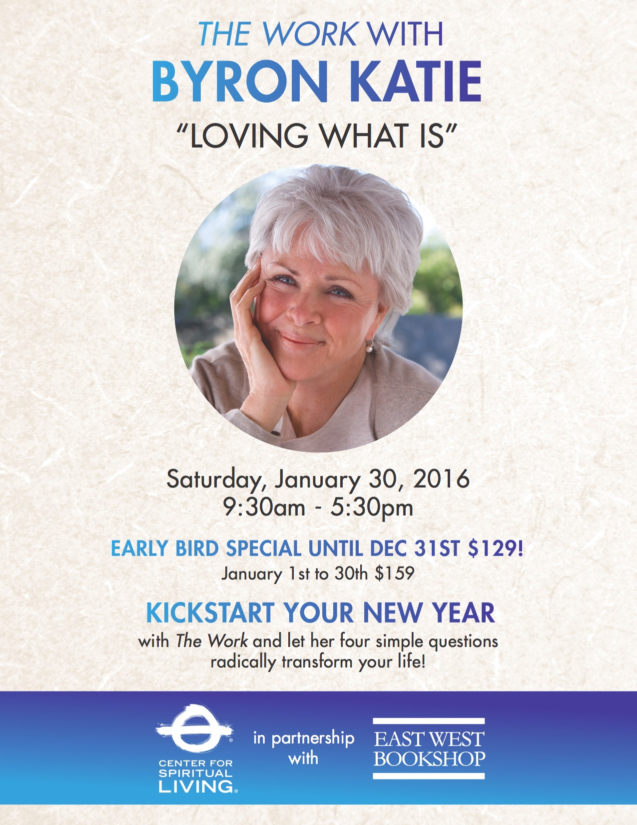 Tickets For The Work With Byron Katie Loving What Is In