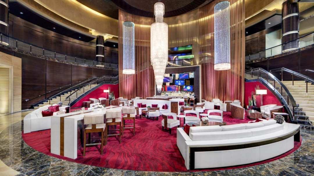 a photo of the lobby bar
