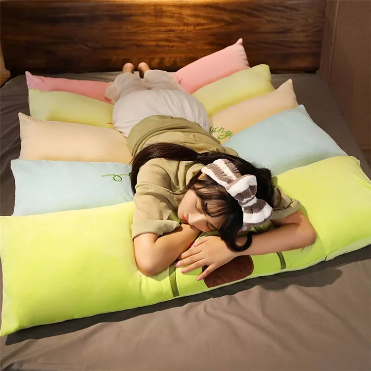 custom low moq wholesale big long round soft cartoon giant plush pillow bed home decor bedding set buy plush pillow custom low moq 2020 new fashion