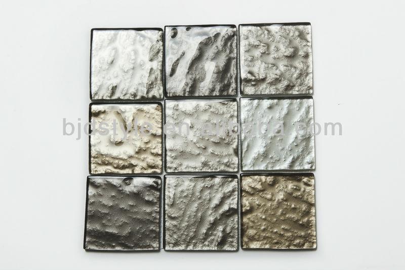 10x10cm textured glass mosaic tile metallic paint buy 4 x4 textured metallic glass tile texture paint brick effect tile mirage glass tile rock