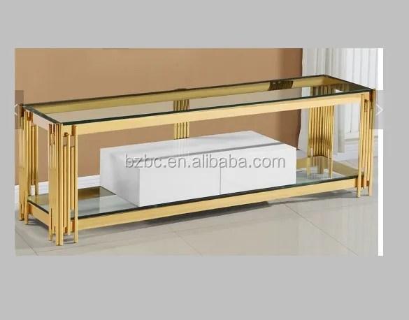 table basse doree poli en acier inoxydable 2021 table basse support tv tiroir en mdf verre nouveaute moderne buy 2021new conception tv stand avec