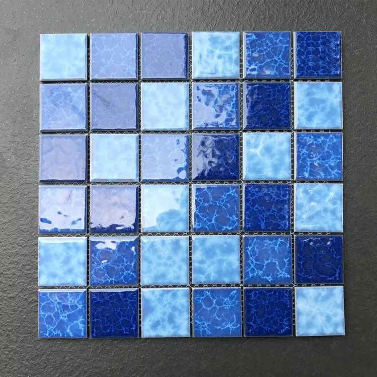 blue square mosaic porcelain stock swimming pool bathroom ceramic tile exterior wall sky blue ceramic buy ceramic tiles for exterior walls cheap