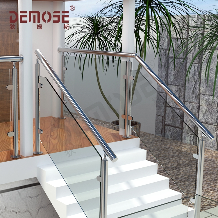 Stair Railing Kits Interior Steps Railing Designs Glass Panel | Stair Railing Design Glass | Basement Stairs | Modern Staircase | Stair Treads | Oak Staircase | Stainless Steel Railing