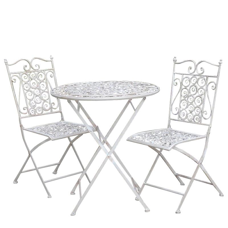 ensemble chaise et tables de jardin de bistrot en fer metallique pliable antirouille fait a la main offre speciale style francais buy chaises et
