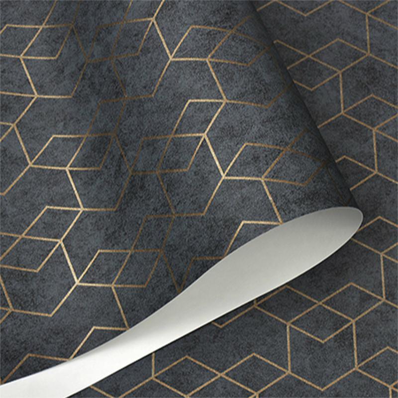 papier peint geometrique uni en rouleau tapisserie design moderne gris fonce 3d noir metallique decoration murale de fond de salon pour chambre a coucher buy papier peint geometrique product on alibaba com
