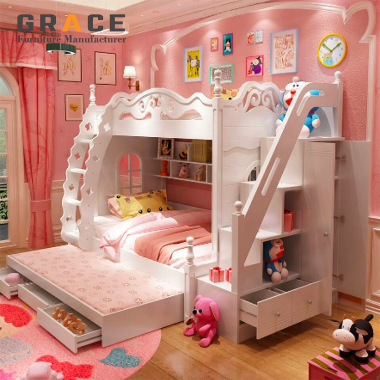 Kids Bedroom Furniture Set Children Bunk Bed With Study Desk Buy Kids Bunk Bed Kids Bedroom Furniture Children Bunk Bed Product On Alibaba Com