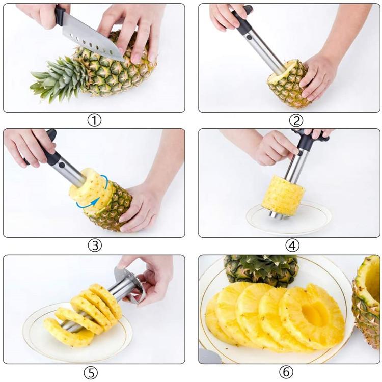 Multifunctional stainless steel pineapple slicer pineapple cutter