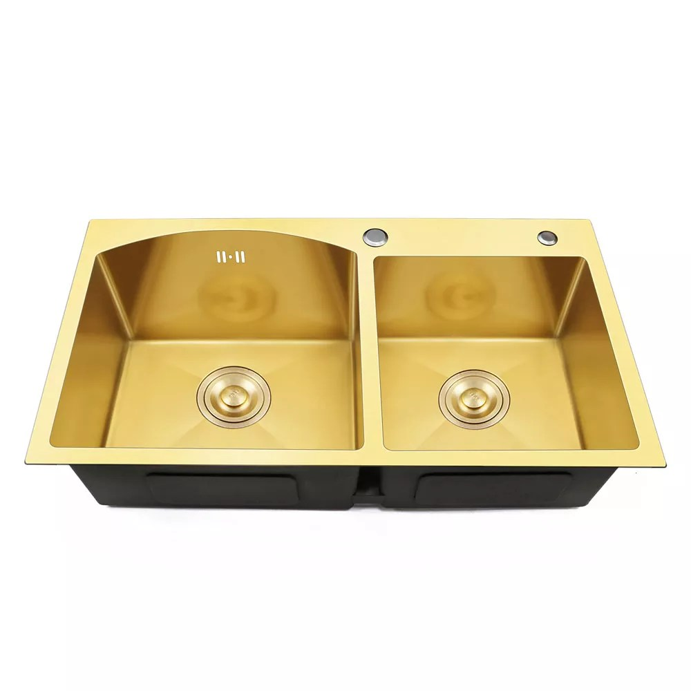 gold color ghana design top mount sink copper utility stainless steel kitchen double bowl double bols square 25 30 days brushed buy handmade kitchen