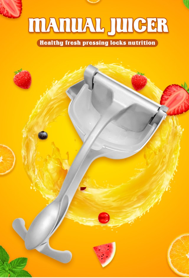 Manual Juice Squeezer Aluminum Alloy Hand Pressure Juicer Pomegranate Orange Lemon Sugar Cane Kitchen Fruit Tool