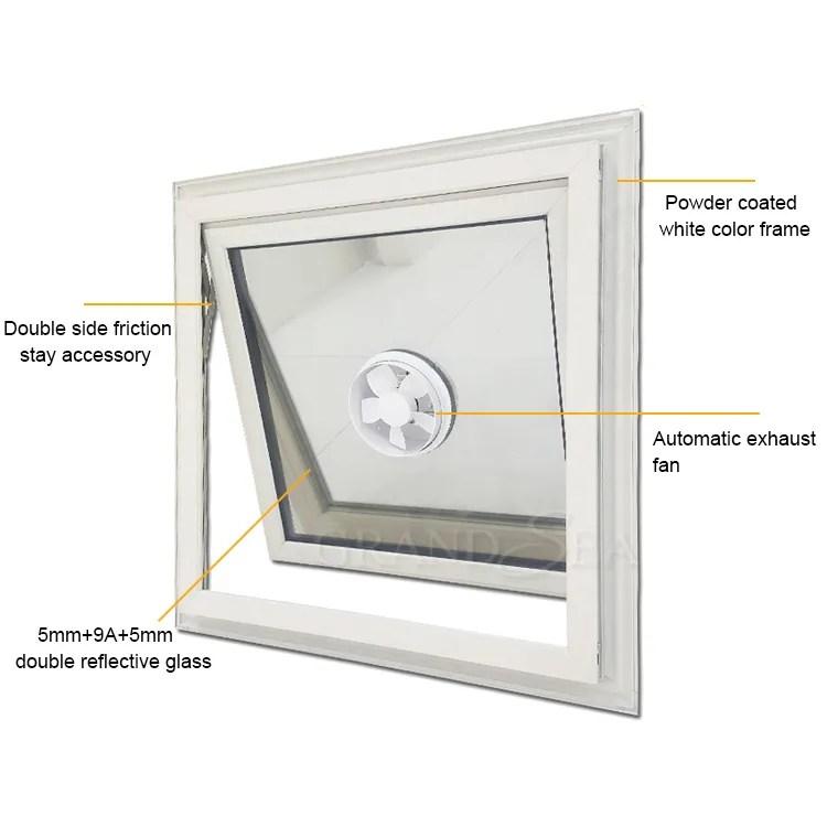 bathroom exhaust fan aluminium window