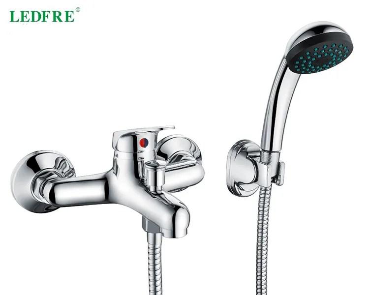 ledfre durable bath shower faucet hot and cold water mixer shower faucet cheap bathtub shower faucet lf56c120 buy mixing faucet hot and cold
