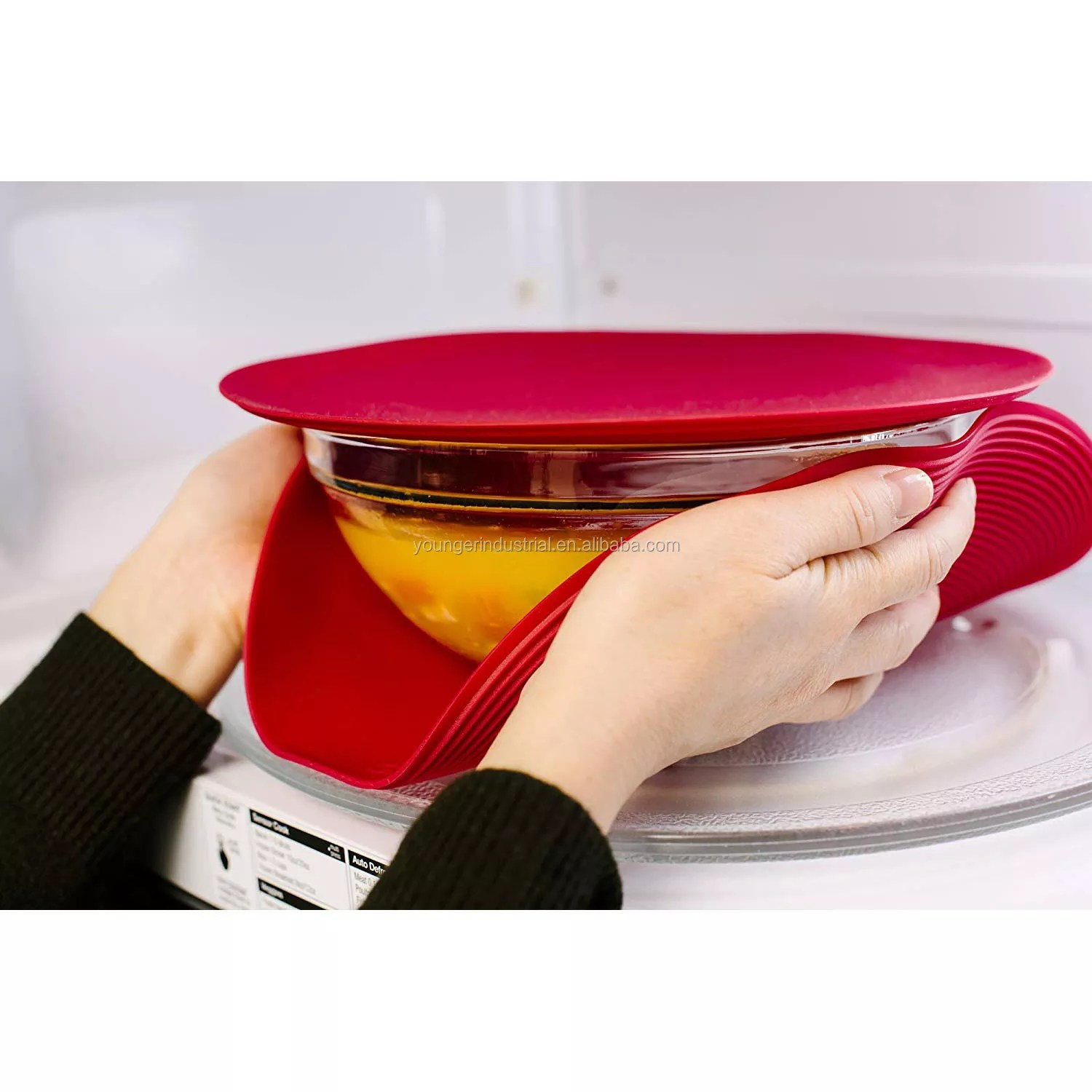 multi purpose silicone microwave mat as seen on shark tank splatter guard trivet hot pad pot holder minimize mess set of 2 buy silicone microwave