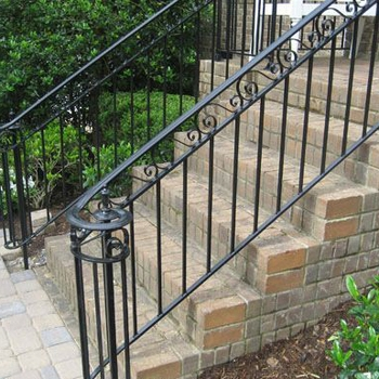 Iron Handrail For Outdoor Steps Interior Stair Railings Buy | Iron Railings For Outside Steps | Front Porch | Deck Railing | Cast Iron | Railing Systems | Staircase