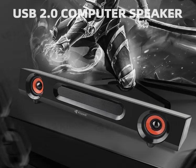 TV Home Theater Soundbar Mini computer sound bar Speaker System with led