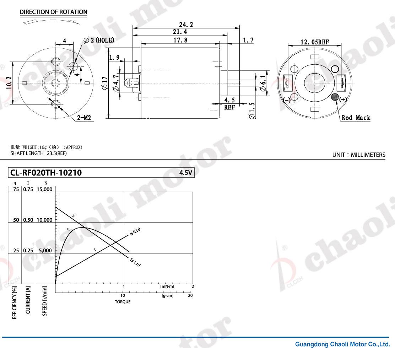 Cl Rf020th Dc Motor Massage Machine Electrician Door Radio